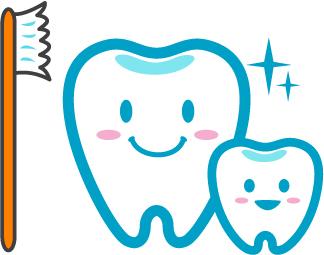 歯とブラシの画像