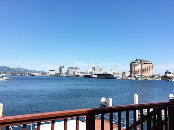 海のダイニングshirokumaからみた波止場の景色