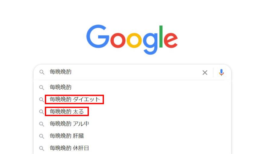 毎日晩酌のGoogle検索の写真