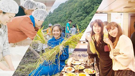 日本酒応援団作業の様子写真