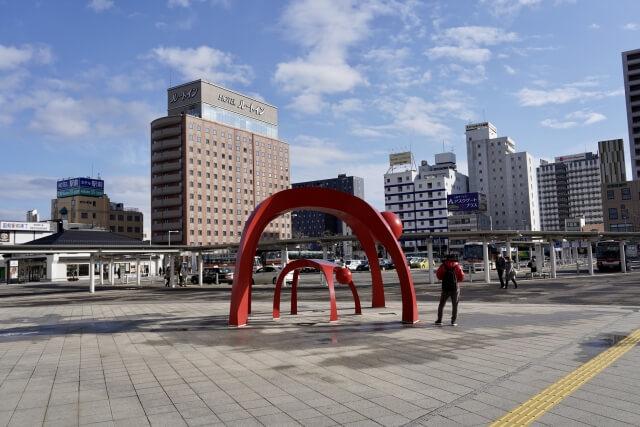函館駅前の写真