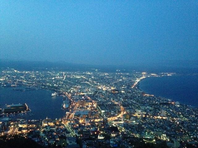 函館山の夜景の写真