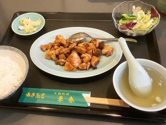 東春の鶏肉椎茸のに味噌炒めの写真