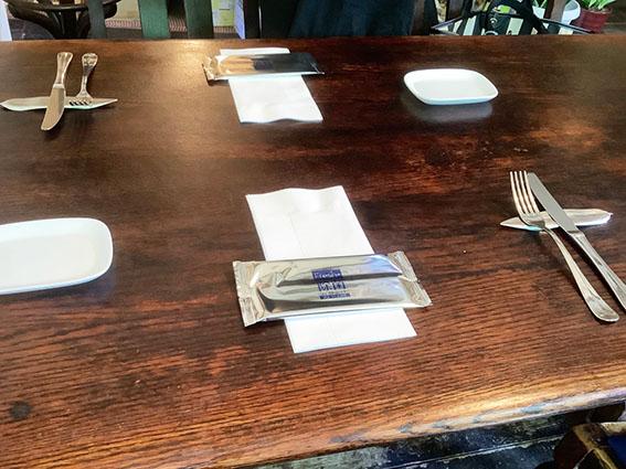 ラ クチーナ ヴェンティトレのテーブル写真
