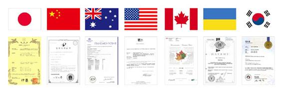 世界中で特許をとった画像