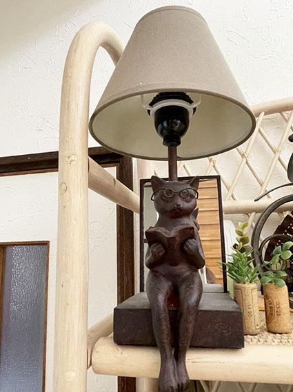 楽膳美和邸にある猫の置物写真