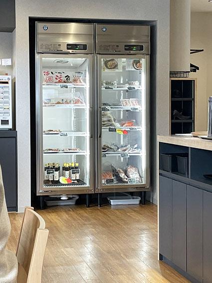 gyogyoの店内冷蔵庫の写真