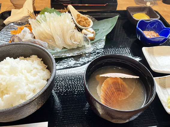 gyogyoの活イカ定食の写真